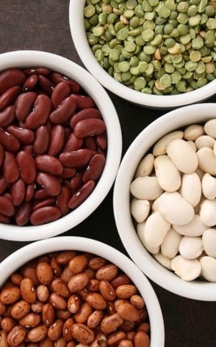 Several types of beans