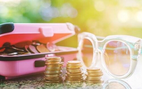 Money and sunglasses